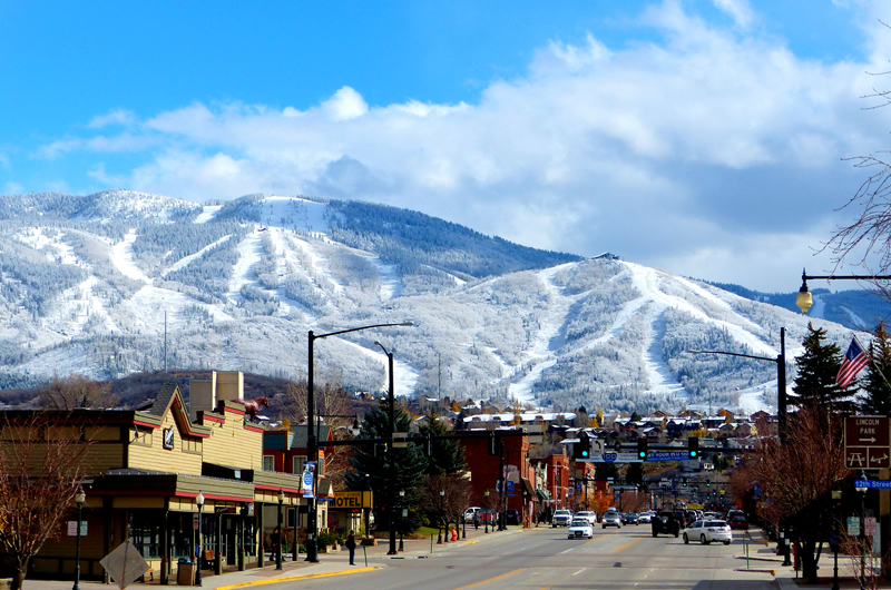 Steamboat Springs Colorado Snow Covered Mountains Shannon Lukens