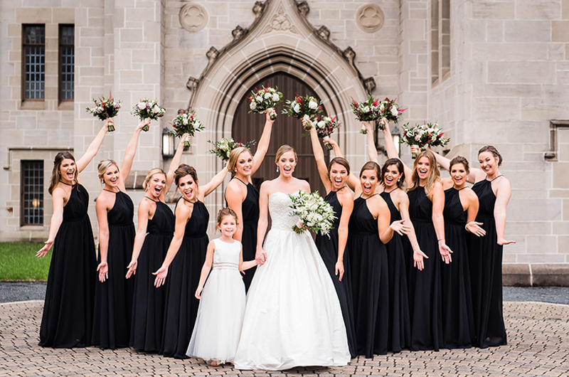 Kathryn Leona And Justin Stewart Cox Bridal Party And Boquets