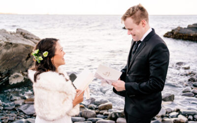 Portland Head Light is the Ultimate Backdrop for a Seasonal, Coastal Maine Elopement