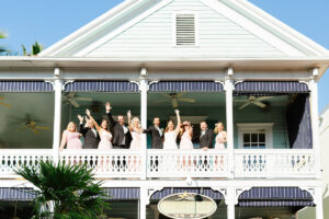 Historic Bagatelle Restaurant In Old Town Key West Florida Bridal Party