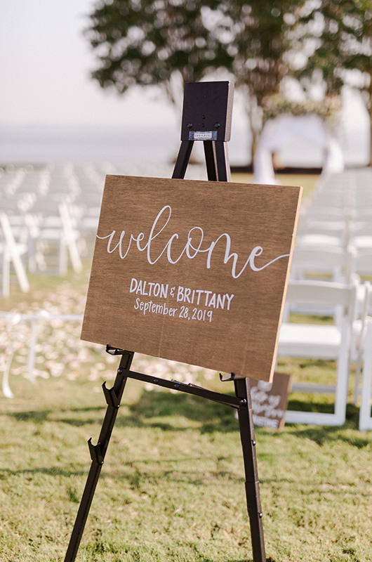 Brittany Wise And Dalton Roe Welcome Sign