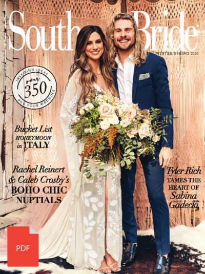 Southern Bride Magazine Cover Spring 2020 Digital Download