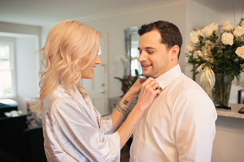 Memphis Chef Josh Steiner & Marketing Director Wallis Tosis Virtual At Home I Do Is Beyond Adorable Couple Getting Ready