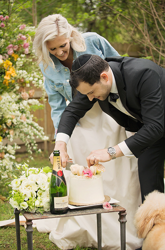 Memphis Chef Josh Steiner & Marketing Director Wallis Tosis Virtual At Home I Do Is Beyond Adorable Cutting Cake