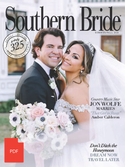 Southern Bride Magazine Cover Fall 2020 Digital Download