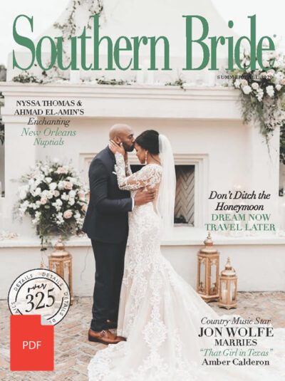 Southern Bride Magazine Cover Summer 2020 Digital Download