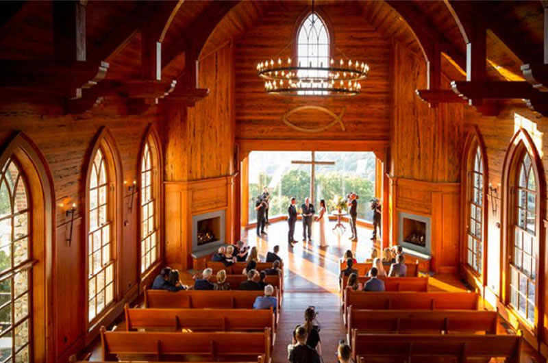 A Magical Wedding In The Ozark Mountains Chapel Wedding Ceremony Birds Eye View