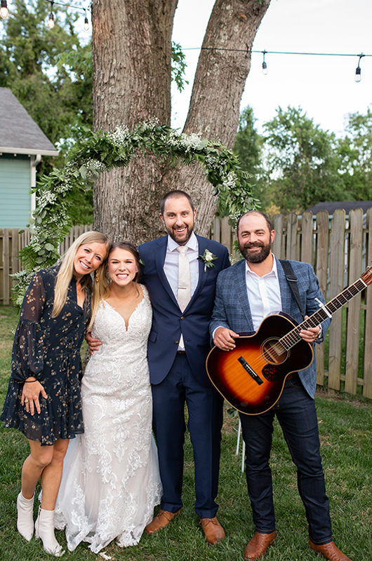 Drew & Ellie Holcomb Surprise Wedding Serenade Bride And Groom With Drew And Ellie