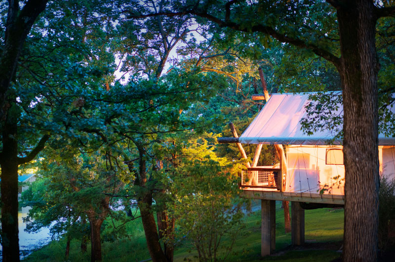 Escape To Connect Amongst Nature At Big Cedar Lodge Glamping Tent
