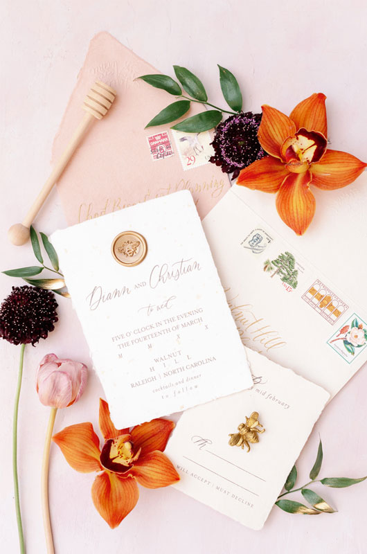 LineAveCalligraphy Revives Lost Artforms To Make Stunning Stationery Floral Invitations