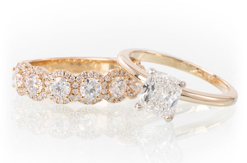 Sissys Log Cabin Commits To Creating Extraordinary Wedding Day Style Gold Set Diamond Ring