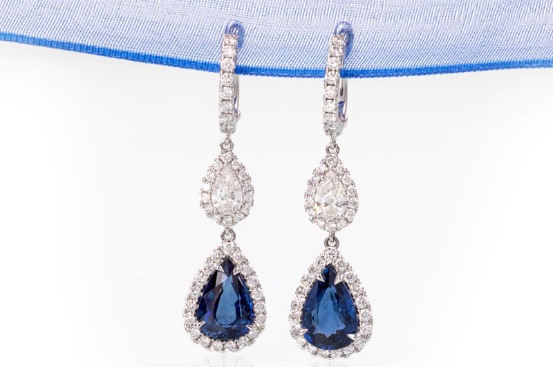 Sissys Log Cabin Commits To Creating Extraordinary Wedding Day Style Sapphire Earrings