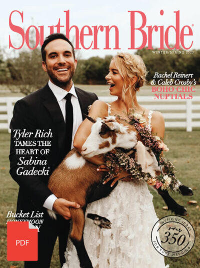 Southern Bride Magazine Cover Winter 2020 Digital Download